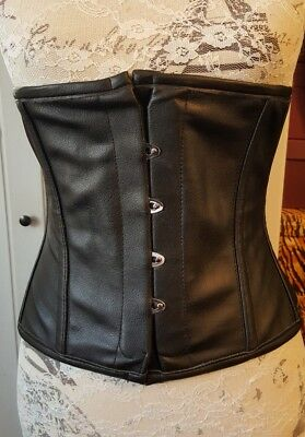 Vollers steel boned waspie corset waist training fetish pinup goth 26 inches