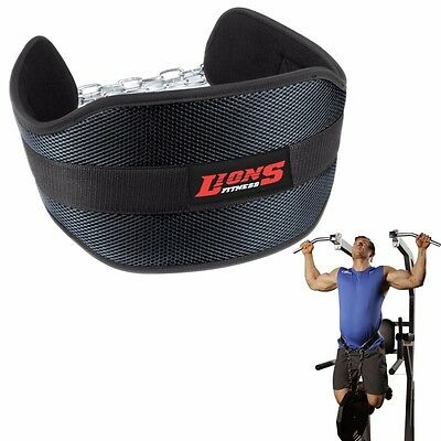 Dipping Belt Weight Lifting Body Building Dip Chain Gym Back Support workout