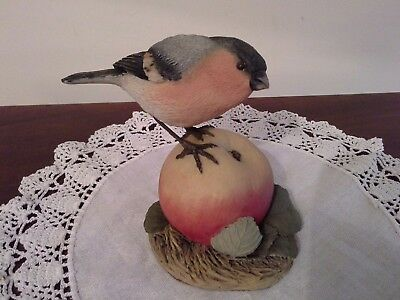 Arden Sculpture of a Bullfinch on Apple