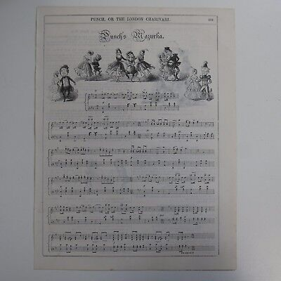 PUNCH`S MAZURKA piano solo from punch magazine , circa late 19th C