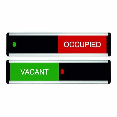 Viro Vacant/Occupied Sliding Door Sign (Green / Red Edition)