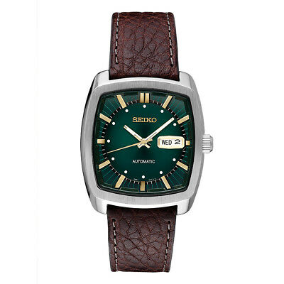Seiko Mens Recraft Series Automatic Watch in Silver with Leather Straps - SNKP27