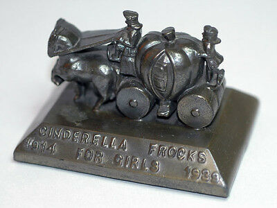 1939 Original Brass Paperweight Cinderella Frocks Coach Shirley Temple Related