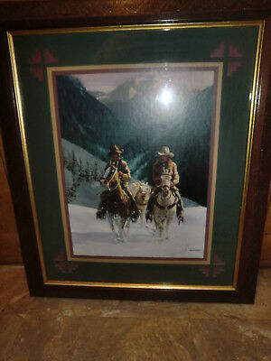 Western Home Interiors & Gifts /Homco Cowboys on Horses Picture