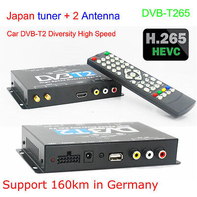 Universal Vehicle Car DVB-T2 H.265 HD Digital Receiver MPEG2/4 240 KM/H TV