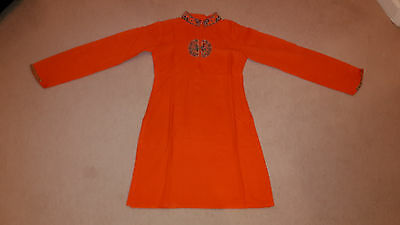 Orange Coloured Ladies Kurti & Salwar with embroidery (Small Size)
