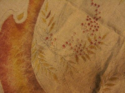 Arts/Crafts Mission Stickley Era Oatmeal Linen Pillow Case Cover to Embroider