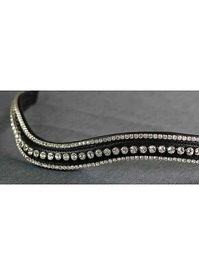 Flexible Fit Triple Row Crystal Wave Browband