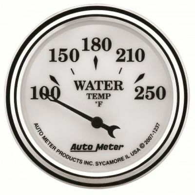 "Auto Meter 1237 2-1/16"" Old-Tyme White II Water Temperature Gauge, 100-250 °F"