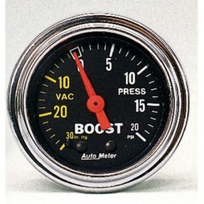 """Auto Meter 2401 2-1/16"""" Traditional Chrome Mechanical Boost/Vacuum Gauge"""