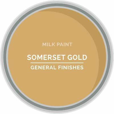 General Finishes Water Based Milk Paint, 1 Pint, Somerset Gold