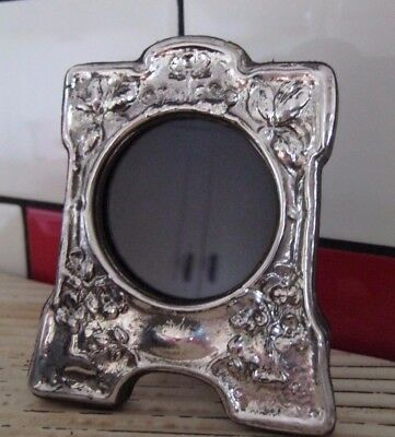 Gorgeous Wood Backed Photo Frame - English Sterling Silver Art Nouveau / Crafts