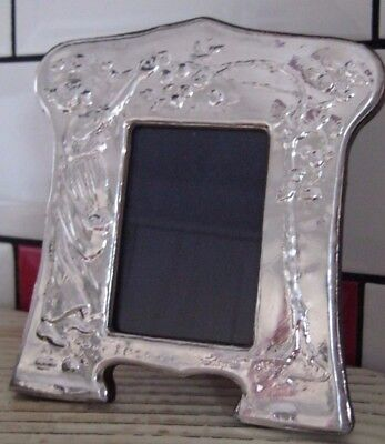 Large Good Quality English Sterling Silver Roman Revivalist Photo Frame