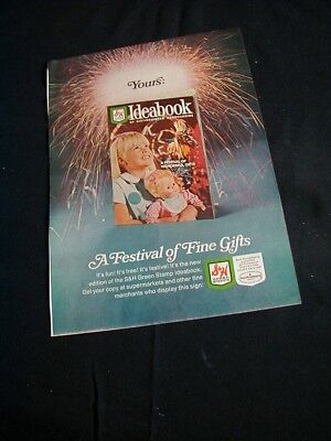 1967 S & H green stamps magazine print ad shows christmas idea book ad