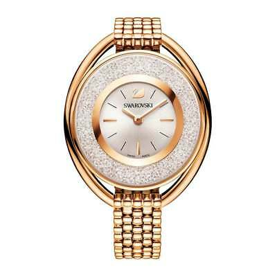New Swarovski Ladies Crystaline Rose Gold Oval Watch 5200341 - Next Day Delivery