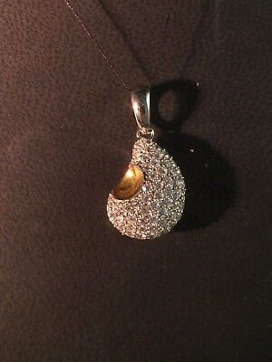 925 Sterling Silver Austrian Crystal Pear Shaped Pendant and Earring Set