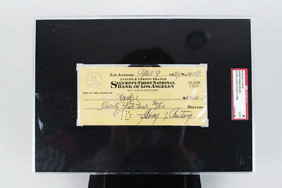 Henry Armstrong Signed Personal Check – SGC Slab