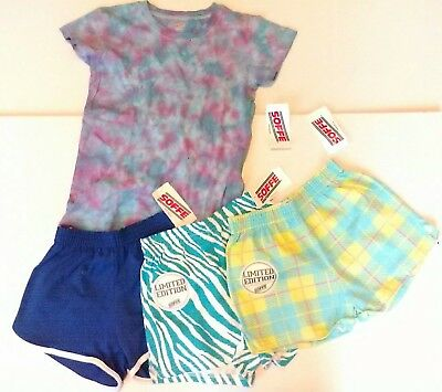 Soffe girls youth shorts and shirt 4 piece lot size 12-14 FREE SHIPPING