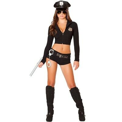 Sexy Women Police Costume Officer Cop Dress Halloween Cosplay Outfit Adult Party