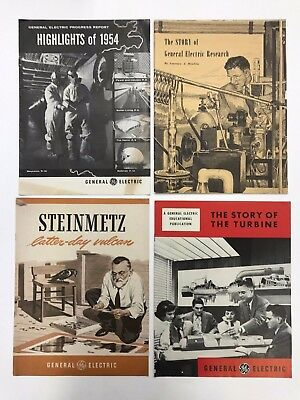 Lot of 4 GE Booklets 1950's Story of General Electric - GE Turbine Pamphlet