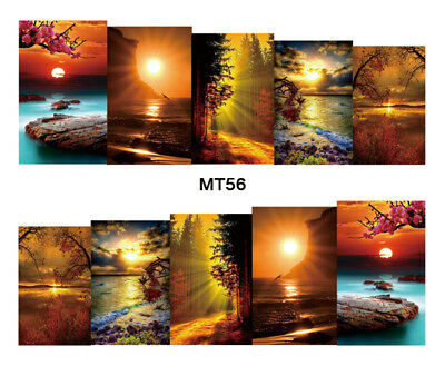 Nail Art Decals Transfers Stickers Forgotten Shores Sunsets (MT56)