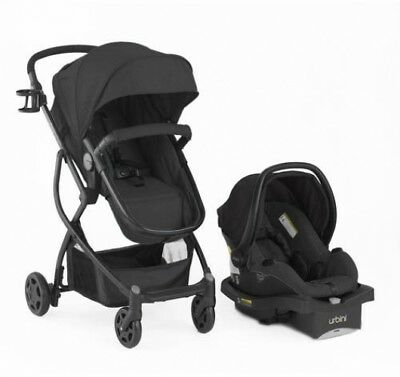 Omni Black Baby Stroller Car Seat 3 in 1 Travel System Infant Carriage Black NEW