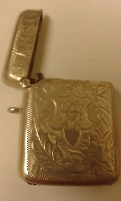 Antique Silver Vesta Case - Birmingham 1908.
