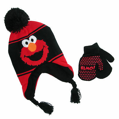 New Sesame Street Infant / Toddler's Elmo Hat and Mitten Winter Set