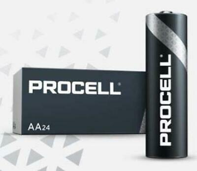 New Duracell ProCell Alkaline Battery AA Cell 1.5V Disposable Pack of 24