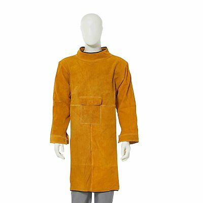 Joyutoy Cowhide Leather Welding Apron Flame Resistant Welding Suit Safety Heavy