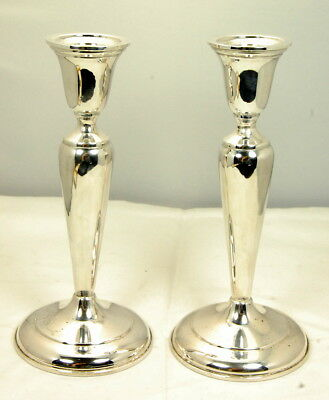 Sterling Silver Cartier  Weighted Candlesticks No Reserve