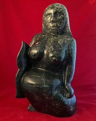 Sedna Ovilu Tunnillie Cape Dorset Inuit Sculpture 52Lbs Magnificent
