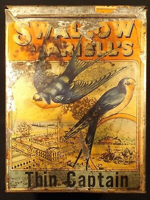 1900's Aust Swallow & Ariell's Thin Captain Bulk Biscuit Tin Reasonable Condit .