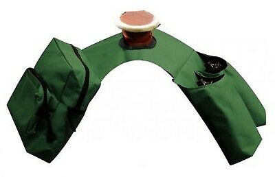 Showman GREEN Insulated Cordura Saddle Horn Bags with Double Pockets! HORSE TACK