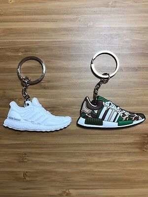BAPE NMD & Triple White Ultra Boost Adidas Pack Sneaker Shoes Keychain Camo