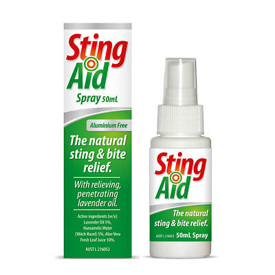 Sting Aid Spray 50mL  - Gentle Sting and Bite Relief - Natural ingredients