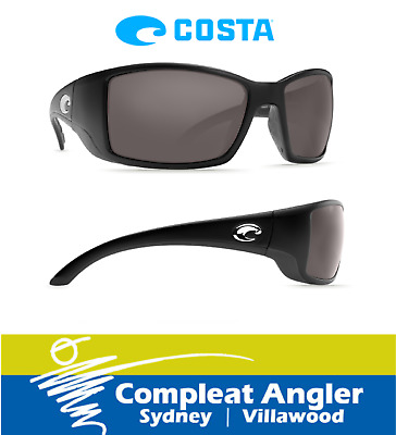 Costa Del Mar Blackfin Black 580G Gray Lens Sunglasses BRAND NEW At Compleat Ang