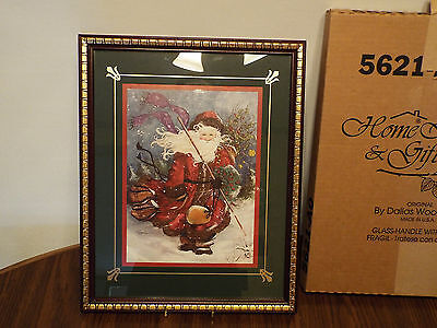 "1995 Home Interiors Old World Santa Claus Picture 5621-AO 12 x 15"" Matted"