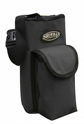 Showman BLACK Insulated Nylon Bottle Carrier W/ Pocket Trail Riding! HORSE TACK!