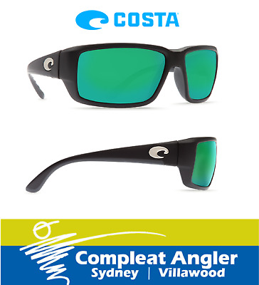 Costa Del Mar Fantail Black 400G Green Mirror Sunglasses BRAND NEW At Compleat A