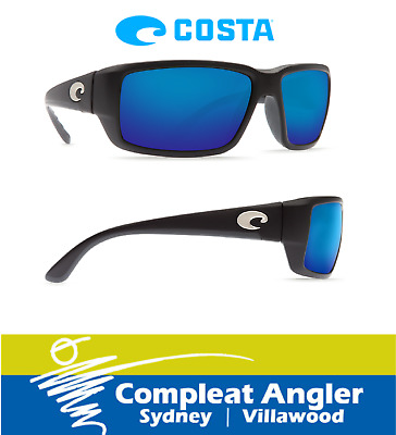 Costa Del Mar Fantail Black 580G Blue Mirror Sunglasses BRAND NEW At Compleat An