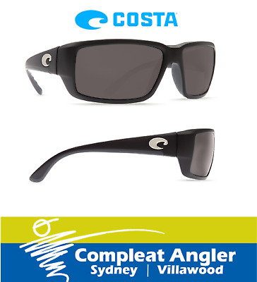 Costa Del Mar Fantail Black 580G Gray Lens Sunglasses BRAND NEW At Compleat Angl