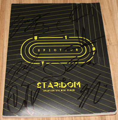 UP10TION STAR;DOM 6th Mini Album REAL SIGNED AUTOGRAPHED PROMO CD + PHOTOCARD