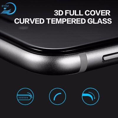 Full Coverage 3D Curved Tempered Glass Screen Protector for Apple iPhone 8/ Plus