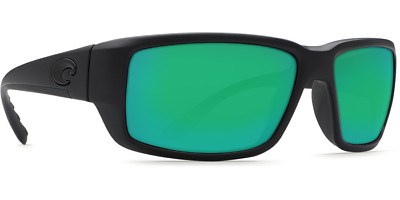 Costa Del Mar Fantail Black 580G Green Mirror Sunglasses BRAND NEW At Compleat A
