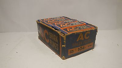 Vintage Antique AC 104 Spark Plugs - Set of 10 WITH BOX!!