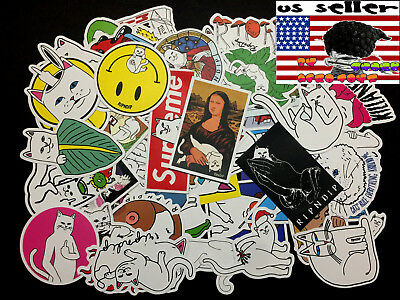 50 RIPNDIP Skateboard Stickers bomb Vinyl Laptop Luggage Decals Dope Sticker Lot