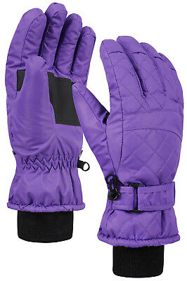 Women's Premium Waterproof Quilted Thinsulate Insulating Snow Gloves