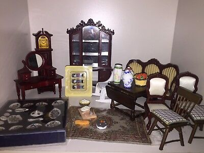 Assorted Victorian Dollhouse Handmade Furniture See Description