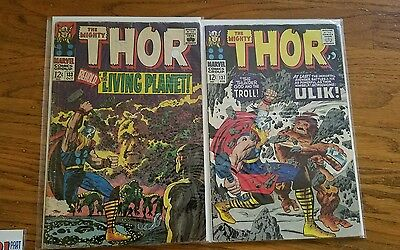 Marvel The Mighty Thor Vintage Comic Book Lot Silver Bronze Age Lot (24)